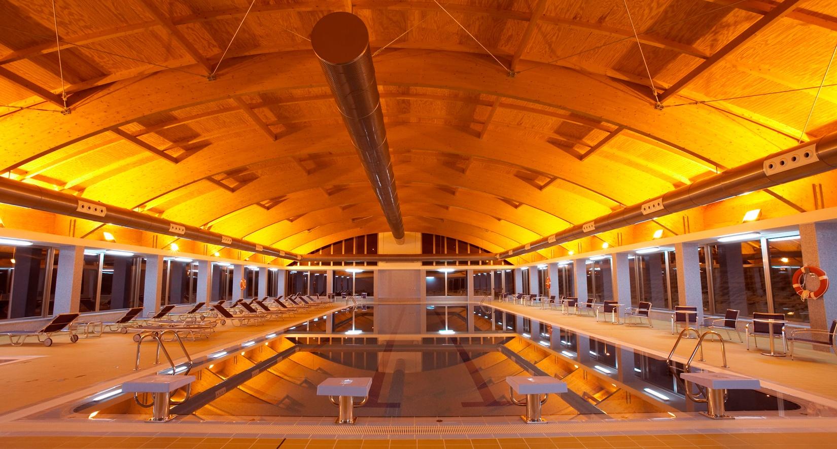 Indoor pool at Hotel II
